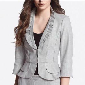 WHBM tan skirt suit sz2
